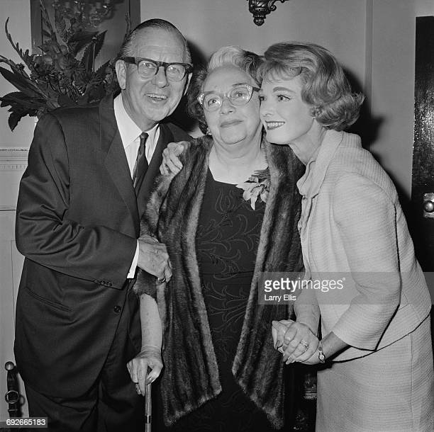 American actor Ben Lyon and his wife actress Bebe Daniels visit the Adelphi Theatre in London 5th September 1966 It is Daniels' first night out in...