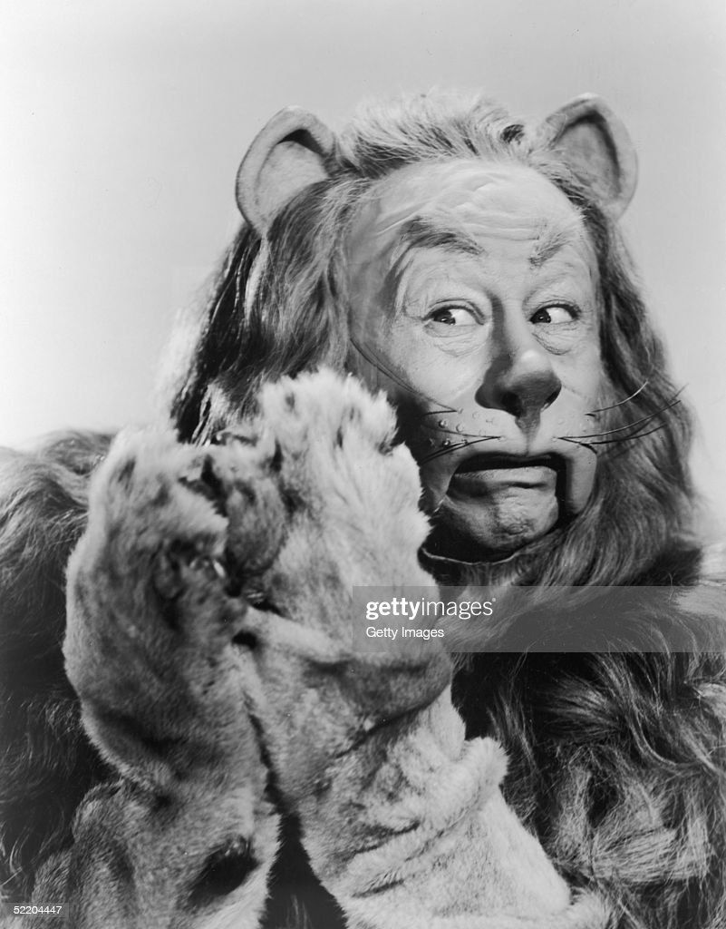 American actor Bert Lahr as the Cowardly Lion in Victor Fleming's 1939 film 'The Wizard of Oz'. The Cowardly Lion wanted to see the Wizard so he could become more courageous.