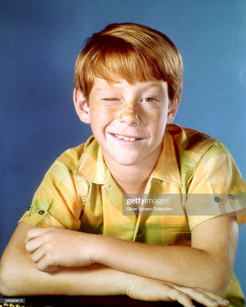 American actor Bill Mumy winking, circa 1965.