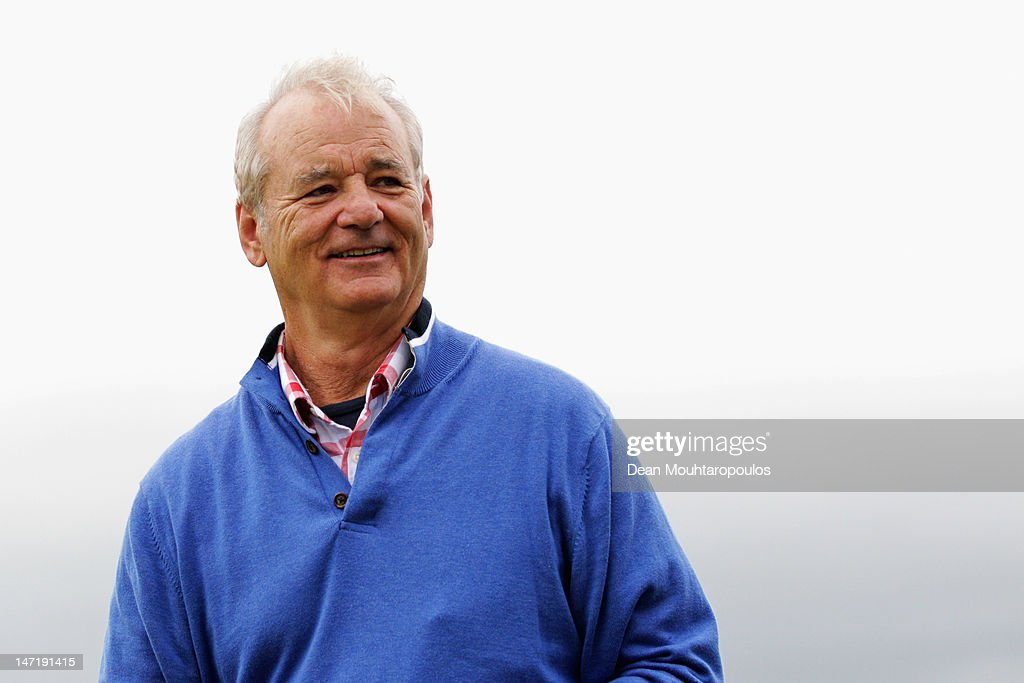 American Actor, <a gi-track='captionPersonalityLinkClicked' href=/galleries/search?phrase=Bill+Murray&family=editorial&specificpeople=171116 ng-click='$event.stopPropagation()'>Bill Murray</a> smiles after his putt during the Pro Am for the 2012 Irish Open held on the Dunluce Links at Royal Portrush Golf Club on June 27, 2012 in Portrush, Northern Ireland.