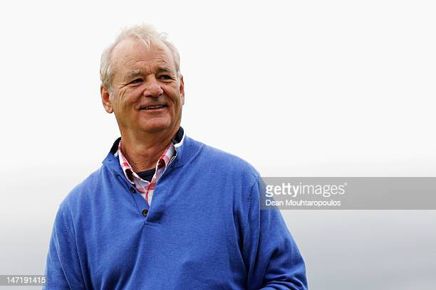 American Actor Bill Murray smiles after his putt during the Pro Am for the 2012 Irish Open held on the Dunluce Links at Royal Portrush Golf Club on...