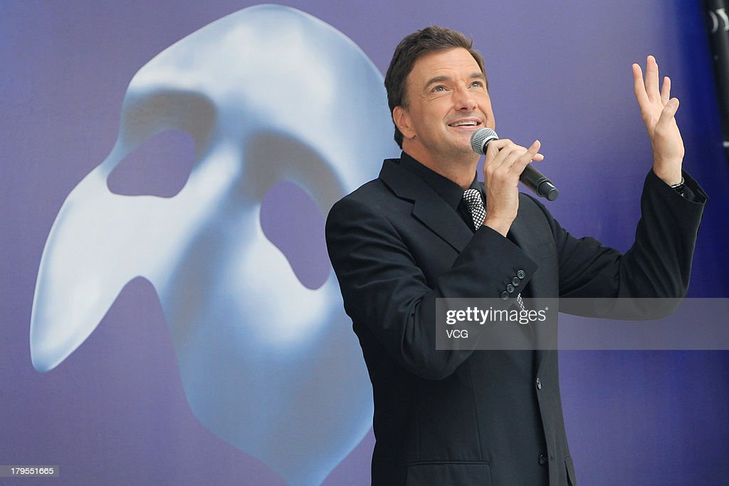 American actor Brad Little attends musical 'The Phantom of The Opera' press conference at Shanghai Culture Square on September 4, 2013 in Shanghai, China.