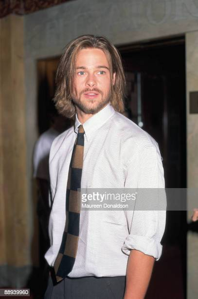 American actor Brad Pitt at the Elgin Theater in Toronto September 1992 He is there for the release of his film 'A River Runs Through It' at the...