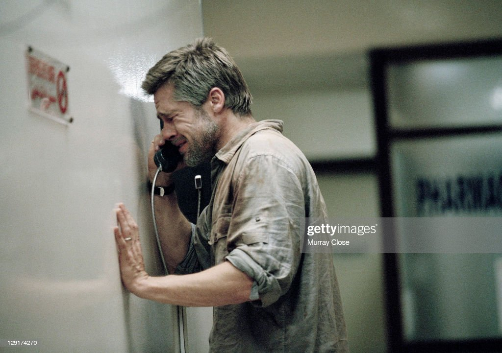 American actor <a gi-track='captionPersonalityLinkClicked' href=/galleries/search?phrase=Brad+Pitt+-+Actor&family=editorial&specificpeople=201682 ng-click='$event.stopPropagation()'>Brad Pitt</a> in a hospital scene during the filming of 'Babel', 2005. The film was directed by Alejandro Gonzalez Inarritu. In this scene Pitt, playing American tourist Richard Jones, waits for news of his wife who has been shot accidentally whilst holidaying in Morocco.