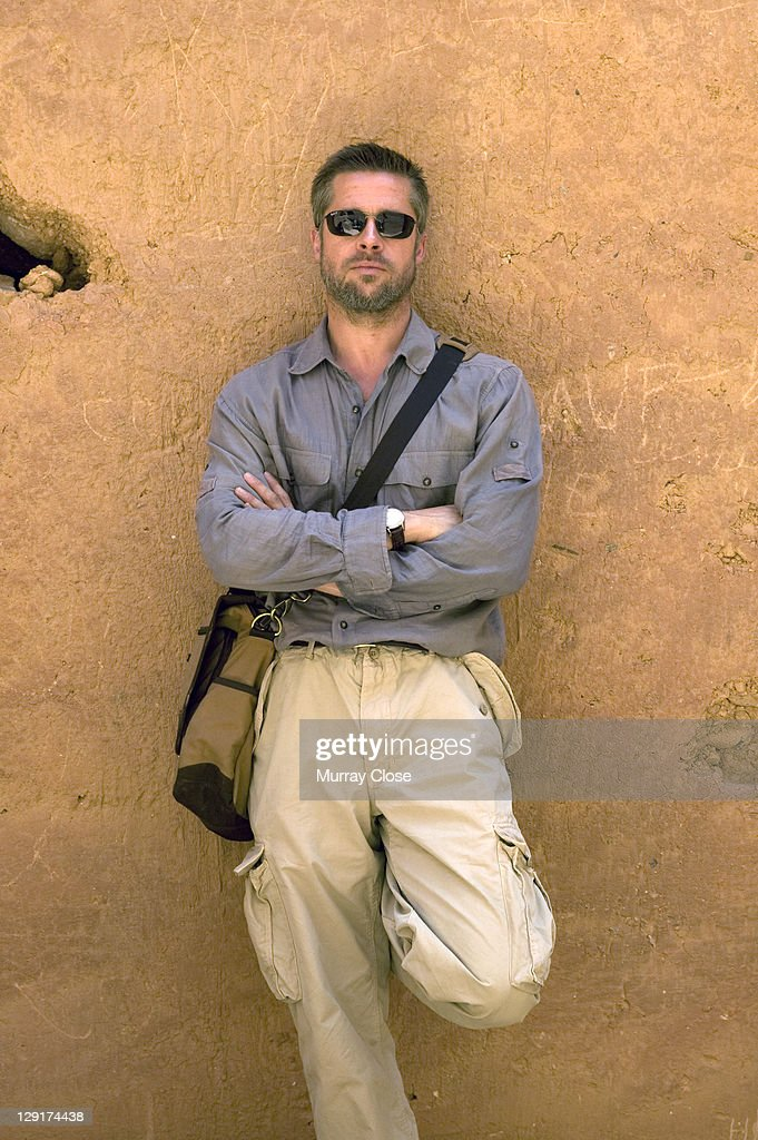 American actor <a gi-track='captionPersonalityLinkClicked' href=/galleries/search?phrase=Brad+Pitt+-+Actor&family=editorial&specificpeople=201682 ng-click='$event.stopPropagation()'>Brad Pitt</a> on location in Morocco for the filming of 'Babel', 2005. The film was directed by Alejandro Gonzalez Inarritu.