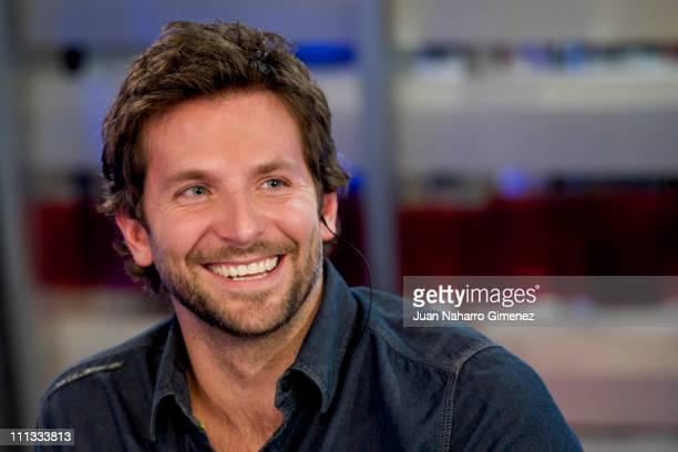 American actor Bradley Cooper attends 'El Hormiguero' TV Show at Vertice Studios on March 31 2011 in Madrid Spain