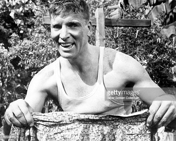 American actor Burt Lancaster as Alvaro Mangiacavallo in 'The Rose Tattoo' directed by Daniel Mann 1955