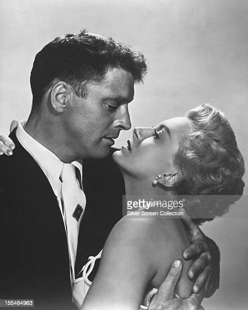 American actor Burt Lancaster as First Sergeant Milton Warden and Scottish actress Deborah Kerr as Karen Holmes in 'From Here To Eternity' directed...