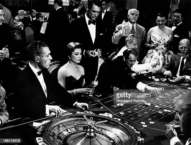 American actor Cary Grant playing roulette in the film To Catch a Thief USA 1955