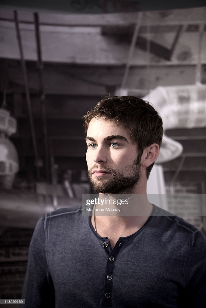 American actor Chace Crawford poses for photos at the Diet Coke popup photo set in Martin Place on April 23 2012 in Sydney Australia