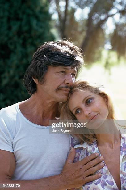 American actor Charles Bronson and his wife British actress Jill Ireland