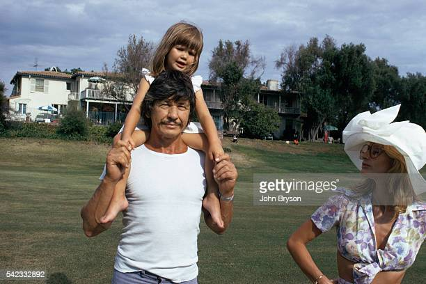 American actor Charles Bronson his wife British actress Jill Ireland and their daughter Zuleika