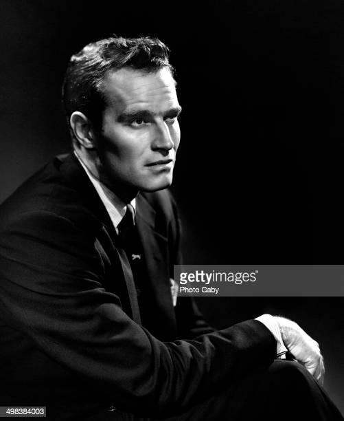 American actor Charlton Heston Los Angeles 1957