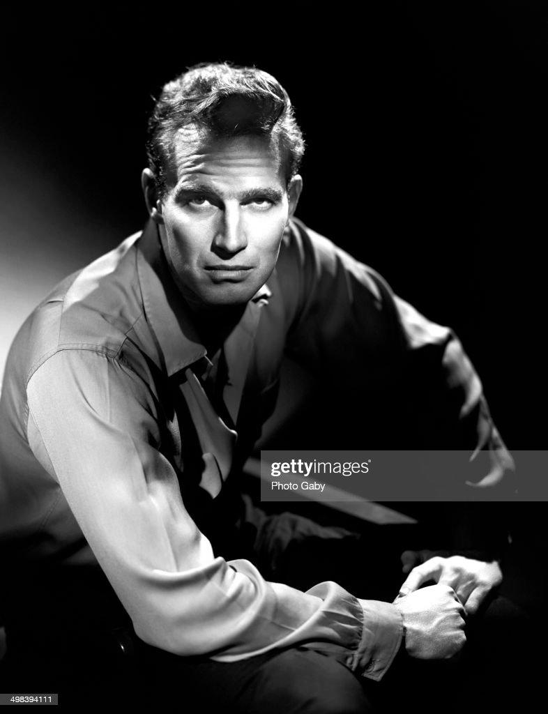American actor Charlton Heston (1923 - 2008), Los Angeles, 1957.