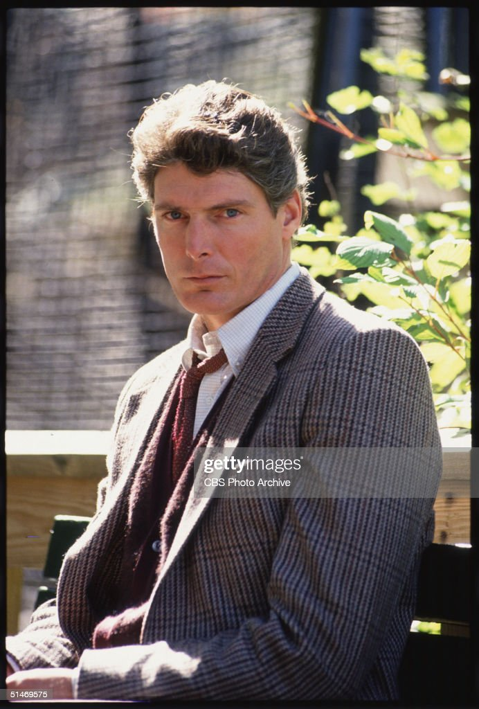 American actor Christopher Reeve (1952 - 2004) portrays Lawrence Muller in the CBS made-for-tv movie 'Bump in the Night,' 1990.