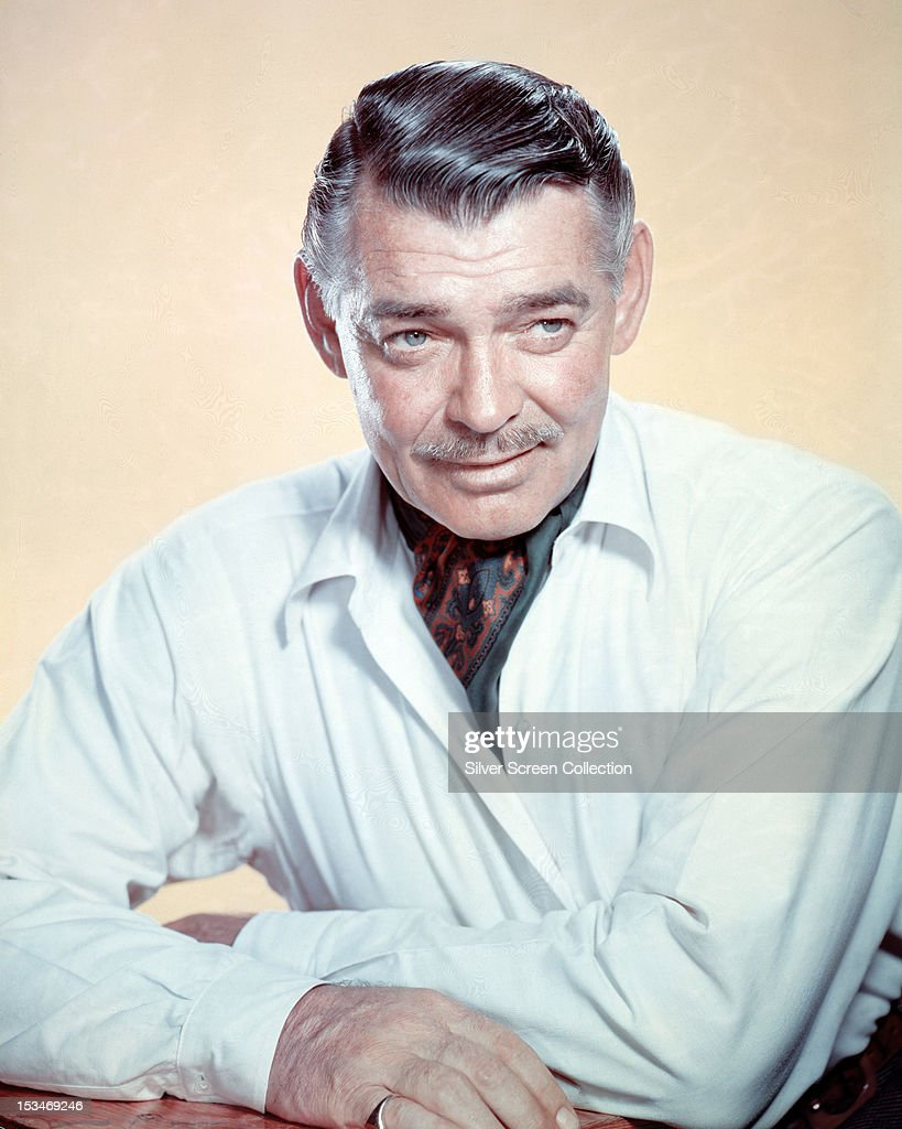 American actor <a gi-track='captionPersonalityLinkClicked' href=/galleries/search?phrase=Clark+Gable&family=editorial&specificpeople=70015 ng-click='$event.stopPropagation()'>Clark Gable</a> (1901 - 1960), circa 1950.