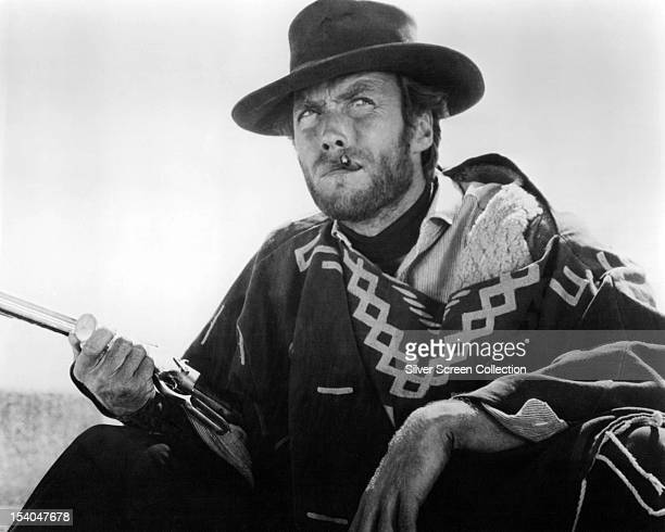 American actor Clint Eastwood as 'Blondie' in 'The Good the Bad and the Ugly' directed by Sergio Leone 1966