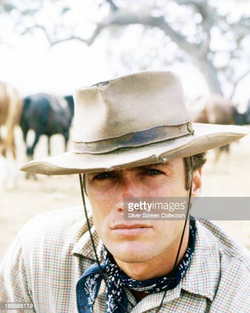 American actor Clint Eastwood as Rowdy Yates in the TV western series 'Rawhide' circa 1965