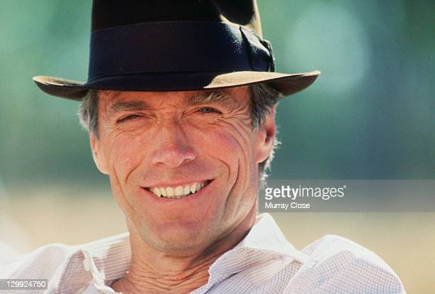 American actor Clint Eastwood on the set of the film 'White Hunter Black Heart' 1990