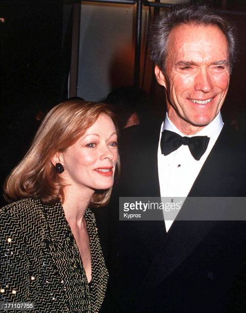 American actor Clint Eastwood with his partner actress Frances Fisher circa 1993