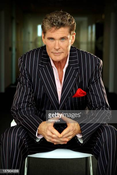 American actor David Hasselhoff poses during a photo shoot on January 20 2012 in Sydney Australia