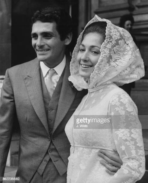 American actor David Hedison formerly Al Hedison marries Bridget Mori at Brompton Oratory in London 29th June 1968 Hedison stars in the television...