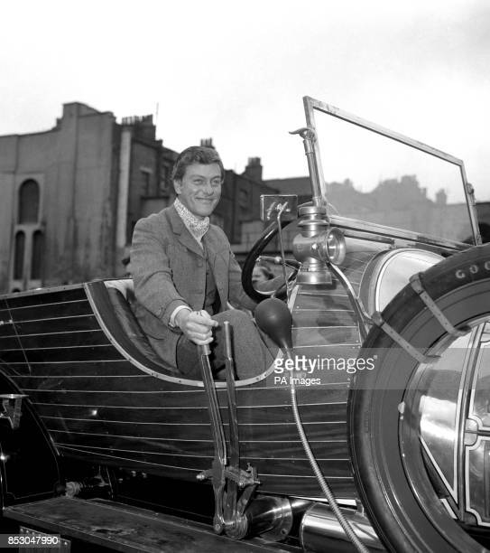American actor DICK VAN DYKE at the wheel of the twoton 'magical' car he drives in his latest film 'Chitty Chitty Bang Bang' as he was about to join...