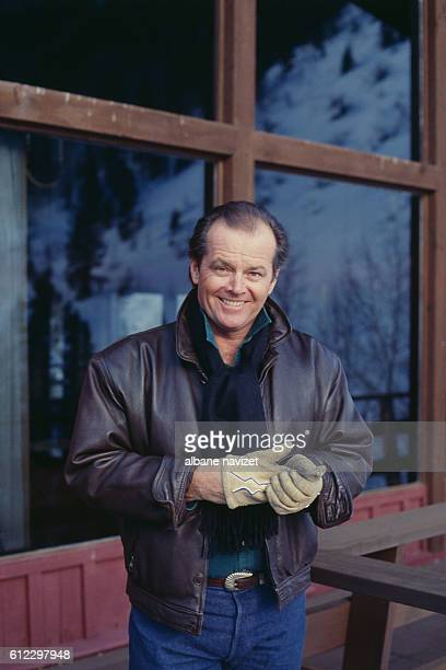 American actor director screenwriter and producer Jack Nicholson at home in Aspen