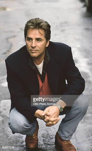 American actor Don Johnson in a scene from an episode of the television show 'Nash Bridges' entitled 'Home Invasion' California January 23 1996 The...