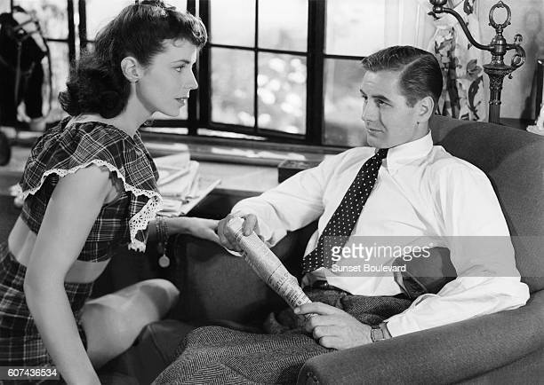 American actor Don Taylor on the set of The Naked City directed by Jules Dassin
