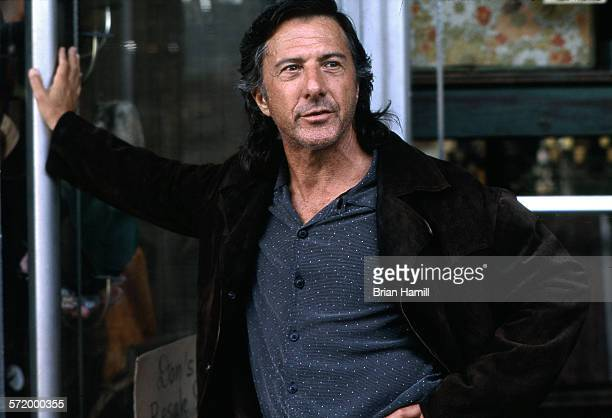 American actor Dustin Hoffman on the set of the film 'American Buffalo' Pawtucket Rhode Island 1996