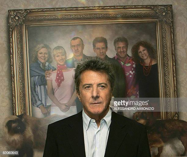 American actor Dustin Hoffman poses for press photographers at the Dorchester Hotel in London 25 January 2005 at a photocall to promote his new film...