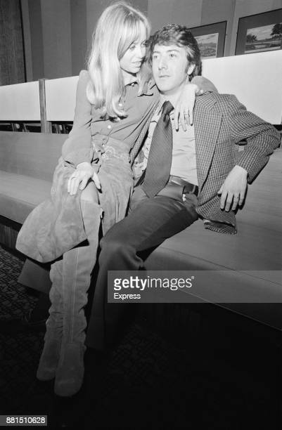 American actor Dustin Hoffman with British actress Susan George UK 21st January 1971