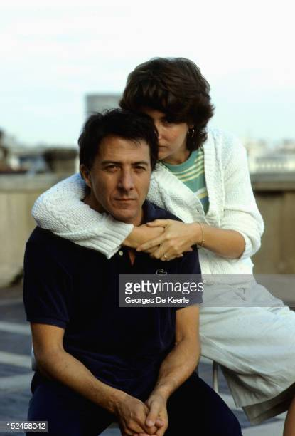 American actor Dustin Hoffman with his wife Lisa circa 1983