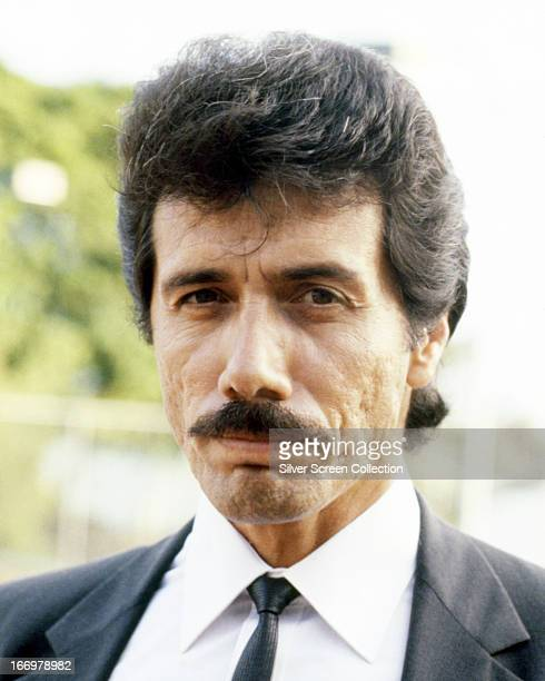 American actor Edward James Olmos as he appears in the role of Lt Martin Castillo in the TV series 'Miami Vice' circa 1985