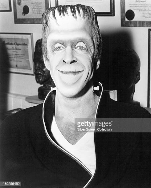 American actor Fred Gwynne as Herman Munster in a promotional portrait for the TV comedy horror series 'The Munsters' circa 1965
