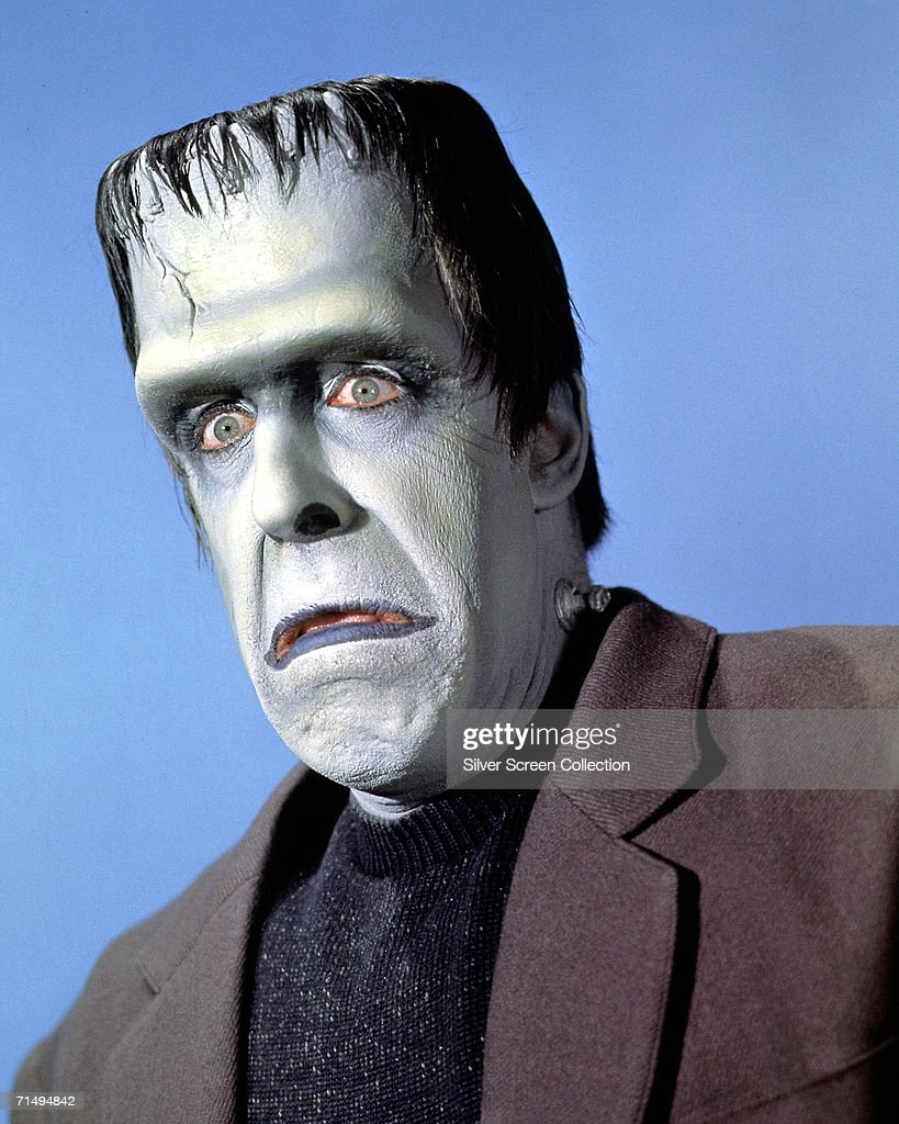 American actor Fred Gwynne (1926 0 1993) as Herman Munster in the TV comedy series 'The Munsters', circa 1965.