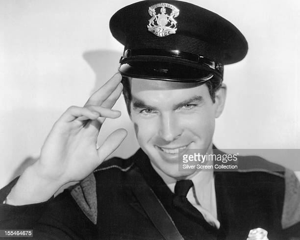 American actor Fred MacMurray as Trooper Ross in 'Car 99' directed by Charles Barton 1935