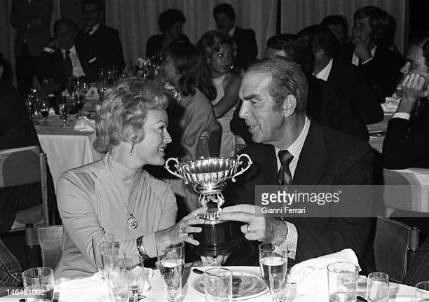 American actor Fred McMurray with his wife in a golf tournament in 'La Manga del Mar Menor' Murcia Spain