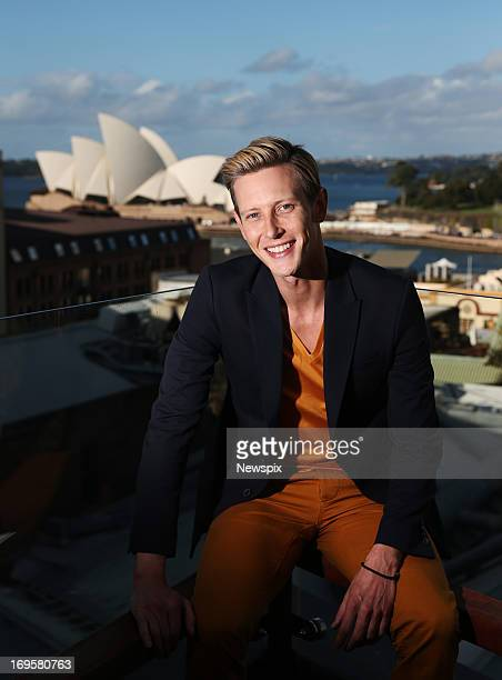American actor Gabriel Mann poses during a photo shoot at The Rocks on May 27 2013 in Sydney Australia Mann is in Australia to promote the hit...
