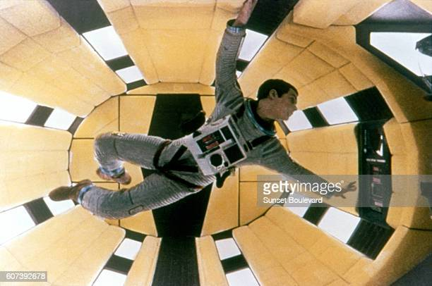 American actor Gary Lockwood on the set of 2001 A Space Odyssey written and directed by Stanley Kubrick