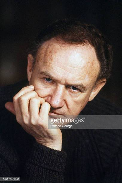 American actor Gene Hackman on the set of the film 'Target' directed by Arthur Penn.