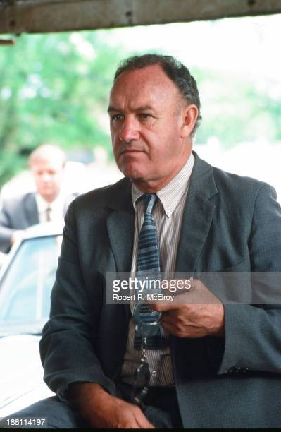 American actor Gene Hackman on the set of the movie 'Mississippi Burning' Braxton Mississippi May 6 1988
