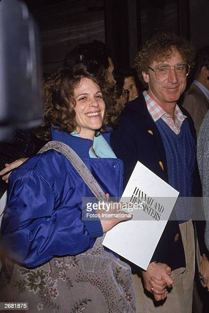 American actor Gene Wilder and his wife Gilda Radner attend the premiere of the film 'Hannah And Her Sisters' directed by Woody Allen 1986
