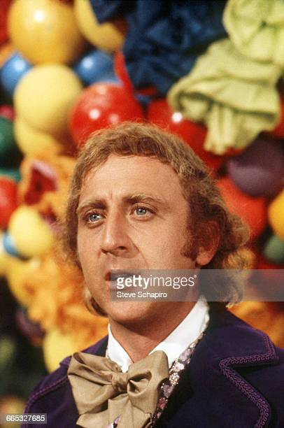 Portrait of Gene Wilder as Willy Wonka on the set of the movie Willy Wonka the Chocolate Factory in 1971