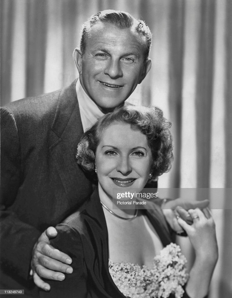 American actor George Burns with his wife actress Gracie Allen circa 1950