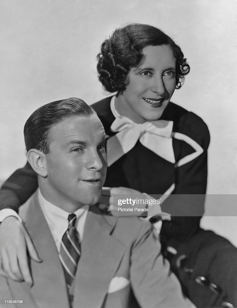 American actor George Burns with his wife actress Gracie Allen in the 1930's
