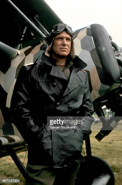 American actor George Peppard on the set of The Blue Max based on the novel by Jack Hunter and directed by John Guillermin