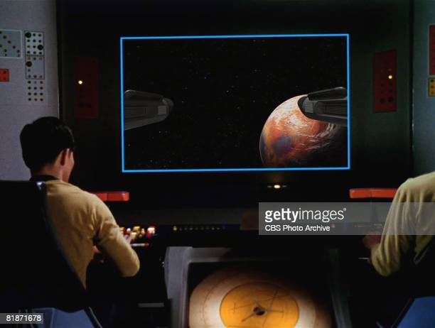 American actor George Takei as Sulu appears in a scene from 'The Man Trap' the premiere episode of 'Star Trek' which aired on September 8 1966
