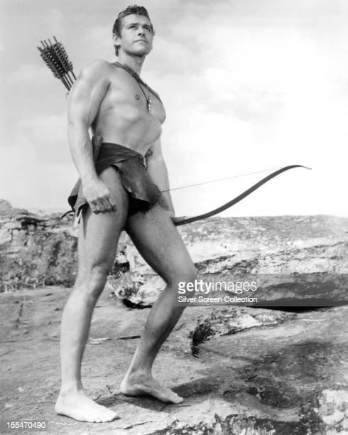 American actor Gordon Scott as Tarzan in 'Tarzan's Greatest Adventure' directed by John Guillermin 1959